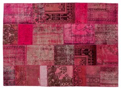 Tappeto patchwork vintage ricolorato PATCHWORK PINK - Carpet Reloaded