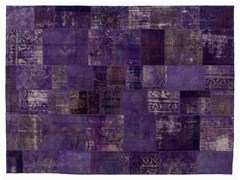 Tappeto patchwork vintage ricolorato PATCHWORK PURPLE - Carpet Reloaded