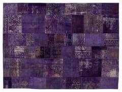 Tappeto patchwork vintage ricolorato PATCHWORK PURPLE - Carpet Reloaded
