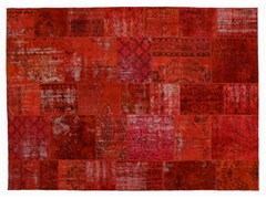 Tappeto patchwork vintage ricolorato PATCHWORK ORANGINE - Carpet Reloaded