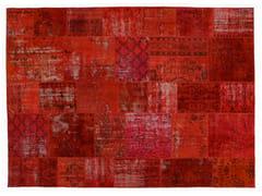 Tappeto patchwork vintage ricolorato PATCHWORK ORANGINE - Carpet Reloaded