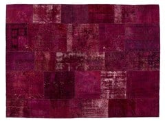 Tappeto patchwork vintage ricolorato PATCHWORK WINE - Carpet Reloaded
