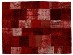 Tappeto patchwork vintage ricolorato PATCHWORK RED - Carpet Reloaded