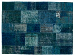 Tappeto patchwork vintage ricolorato PATCHWORK BLUE - Carpet Reloaded