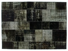 Tappeto patchwork vintage ricolorato PATCHWORK BLACK - Carpet Reloaded