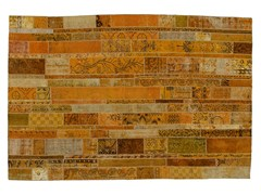 Tappeto patchwork vintage ricolorato PATCHWORK RESTYLED YELLOW - Carpet Reloaded