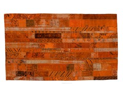 Tappeto patchwork vintage ricolorato PATCHWORK RESTYLED ORANGE - Carpet Reloaded