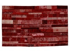 Tappeto patchwork vintage ricolorato PATCHWORK RESTYLED RED - Carpet Reloaded