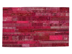 Tappeto patchwork vintage ricolorato PATCHWORK RESTYLED PINK - Carpet Reloaded