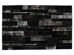 Tappeto patchwork vintage ricolorato PATCHWORK RESTYLED BLACK - Carpet Reloaded