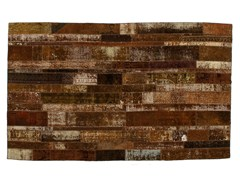 Tappeto patchwork vintage ricolorato PATCHWORK RESTYLED BROWN - Carpet Reloaded