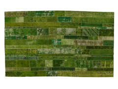 Tappeto patchwork vintage ricolorato PATCHWORK RESTYLED GREEN - Carpet Reloaded