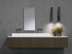 Mobile lavabo sospeso in rovere K.FORTY | Mobile lavabo doppio - K.Forty