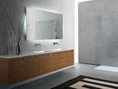 Mobile lavabo in noce con ante ZERO | Mobile lavabo in noce - Zero