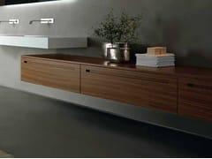 Mobile bagno basso sospeso in noce ZERO | Mobile bagno in noce - Zero