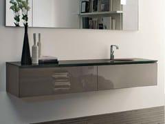 Mobile lavabo laccato sospeso B2K | Mobile lavabo singolo - B2k