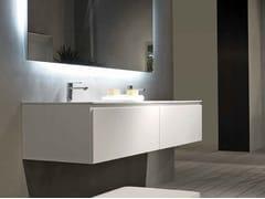 Mobile lavabo laccato sospeso B2K | Mobile lavabo doppio - B2k