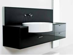 Mobile lavabo laccato sospeso FONTE | Mobile lavabo singolo - Fonte