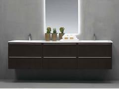Mobile lavabo laccato sospeso FONTE | Mobile lavabo doppio - Fonte