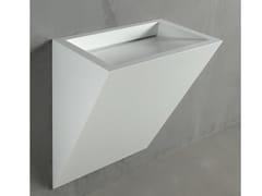 Lavabo sospeso in Corian® GAP TO WALL 06 - Gap