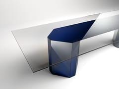 Tavolo rettangolare in cristallo AKIM | Tavolo rettangolare -