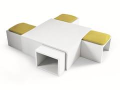 Elemento di servizio con cubi contenitori / pouf1+4 - MISURAEMME