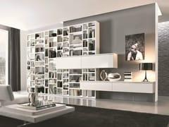 Libreria componibile con cassettoni e modulo pensile CROSSING | Libreria - MisuraEmme