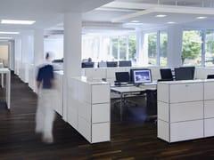 Mobile ufficio basso modulare in metallo USM HALLER CREDENZA AS OFFICE STORAGE | Mobile ufficio - USM Haller