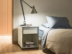 Comodino quadrato in metallo USM HALLER NIGHTSTAND | Comodino - USM MODULAR FURNITURE