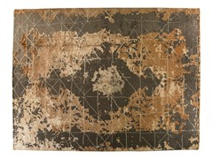 Tappeto fatto a mano rettangolare in lana e seta TAJ MAHAL - Memories