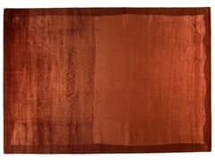 Tappeto rettangolare in lana e seta RAME - Shadows