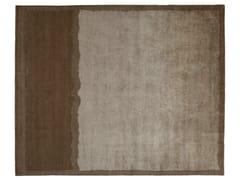 Tappeto rettangolare in lana e seta BEIGE - Shadows