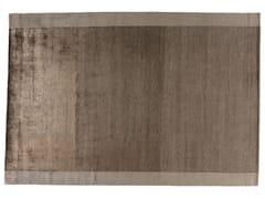 Tappeto rettangolare in lana e seta SILVER BROWN - Shadows