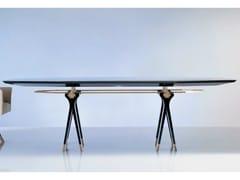 Tavolo ovale in legno e vetro SC1013/C | Tavolo da riunione - Percorsi