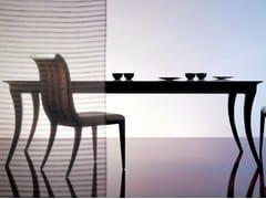 Tavolo rettangolare in legno-bronzo SC1021/a - Percorsi