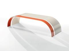 Tavolino basso rettangolare in cristallo TWIST BICOLOR -
