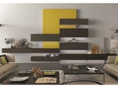 Parete attrezzata componibile fissata a muro laccata in legno TAO10 | Parete attrezzata componibile - MisuraEmme