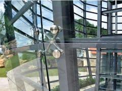 Sistema e profilo di ancoraggio per facciataFITECHNIC Glass Fitting MOD.2 complement - PENTAGONAL