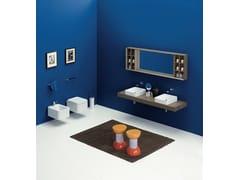 Lavabo da appoggio quadrato in ceramica designNILE 40 | Lavabo da appoggio - CERAMICA FLAMINIA
