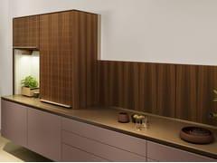Cucina in larice con serranda a scomparsa B3 | Cucina a scomparsa - b3