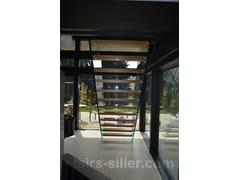 Scala a giorno autoportante in vetro con cosciali lateraliMistral / Staircase floating design - SILLER TREPPEN