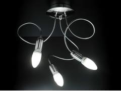 Lampada da soffitto in metallo cromato con braccio flessibile FREE SPIRIT CLASSIC | Lampada da soffitto - Free Spirit Classic