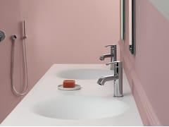 Rubinetto per lavabo monocomando in metallo in stile moderno ZoN 595 - On