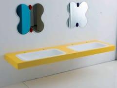Lavabo doppio in pietra acrilica per bambiniMILK | Lavabo doppio - PONTE GIULIO