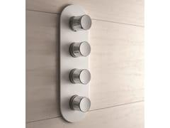 Miscelatore per doccia a 4 fori in ottone cromato MACÒ | Miscelatore per doccia a 4 fori - Macò