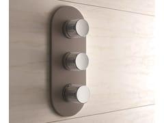 Miscelatore per doccia a 3 fori in ottone cromato MACÒ | Miscelatore per doccia a 3 fori - Macò