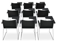 Sedia a slitta in polipropilene con braccioliFILÒ PLASTIC | Sedia da conferenza con ribaltina - DIEMMEBI
