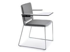 Sedia a slitta con braccioliLAFILÒ SOFT | Sedia da conferenza con ribaltina - DIEMMEBI