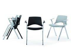 Sedia impilabile pieghevole con braccioliLAKENDÒ SOFT | Sedia con braccioli - DIEMMEBI