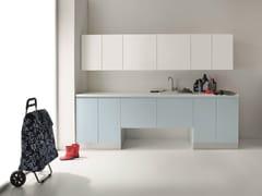 Mobile lavanderia laccato in nobilitato per lavatrice IDROBOX | Mobile lavanderia con ante a battente - Idrobox